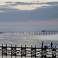 Navarre Beach Sunset Pier 8 by Michelle Powell