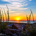 Navarre Fl Sunset 2014 07 29 A by Mark Olshefski