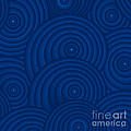 Navy Blue Abstract by Frank Tschakert