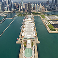 Navy Pier Chicago Aerial by Adam Romanowicz