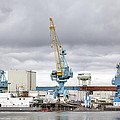 Navy Yard Cranes by Eric Gendron