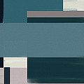Navy Silence Rectangular Format by Lourry Legarde