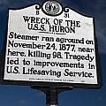 Nc-b31 Wreck Of The U.s.s. Huron by Jason O Watson