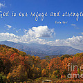 Nc Mountains With Scripture by Jill Lang