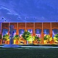 Ncaa Hall Of Champions Glow by David Haskett II