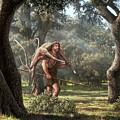 Neanderthal Hunter by Mauricio Anton