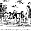 Neanderthal Speaks To An Upright Man As A Group by Lee Lorenz