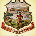 Nebraska Coat Of Arms -1876 by Mountain Dreams