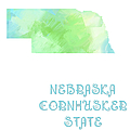 Nebraska - Cornhusker State - Map - State Phrase - Geology by Andee Design