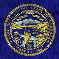 Nebraska Flag by World Art Prints And Designs