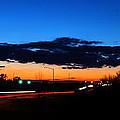 Nebraska Highway Sunset by Gary Mosman