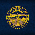 Nebraska State Flag Art On Worn Canvas by Design Turnpike