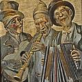 Needlepainting Musicians by Jay Milo
