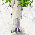 Negro Man Carrying Plantains On Pole by William Berryman