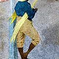 Negro Man Stripping Cane Jamaica by William Berryman
