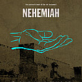Nehemiah Books Of The Bible Series Old Testament Minimal Poster Art Number 16 by Design Turnpike