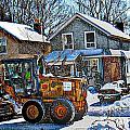 Neighbourhood Snowplough 2 by Nina Silver