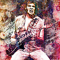 Neil Young Original Painting Print by Ryan Rock Artist