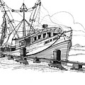 Nellie Mae Fishing Boat by Richard Wambach