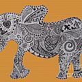 Nelly The Elephant Orange by Karen Larter