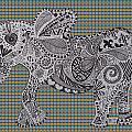 Nelly The Elephant Tartan by Karen Larter