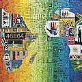 Nelson Mandela by Genna Wise