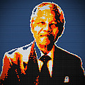 Nelson Mandela Lego Pop Art by Georgeta Blanaru