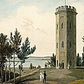 Nelsons Tower, Forres, From A Voyage by William Daniell