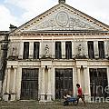Neoclassic Storehouse Yaxcopoil Mexico by John  Mitchell