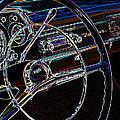 Neon 1957 Chevy Dash by Steve McKinzie