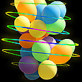 Neon Balloons by Michelle Orai