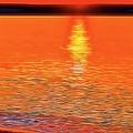 Neon Beach Sunset by Dan Sproul