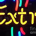Neon Beer Sign - Extra by Miriam Danar