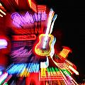 Neon Burst In Downtown Nashville by Dan Sproul