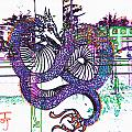 Neon Dragon In High Contrast by Kelly Awad