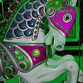 Neon Green Carousel Horse by Patty Vicknair