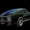 Neon Mustang Fastback 1967 by Gill Billington