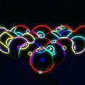 Neon Pool Balls by Kathy Churchman