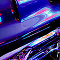 Neon Reflections - Ford V8 Pickup Truck -1044c by Jill Reger