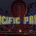 Neon Sign At Pacific Park At Santa Monica by Carol M Highsmith