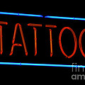 Neon Tattoo Sign by Phil Cardamone