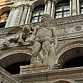 Neptune And The Lion Atop The Giants Staircase by Karen Maxwell
