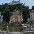 Neptune Fountain In Salzburg Austria by Gregory Dyer