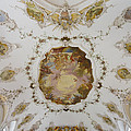 Nesselwang Church Ceiling And Organ by Jenny Setchell