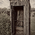Nevada City Ghost Town Outhouse - Montana by Daniel Hagerman