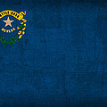 Nevada State Flag Art on Worn Canvas by Design Turnpike