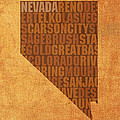 Nevada Word Art State Map On Canvas by Design Turnpike