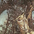 Never So Weary Never So Woeful Illustration To A Midsummer Night S Dream by Arthur Rackham