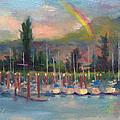 New Covenant - Rainbow Over Marina by Talya Johnson