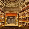 New Covent Garden Theatre by T. & Pugin, A.C. Rowlandson